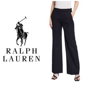 LAUREN RALPH LAUREN Grey Wide Leg Wool Trousers